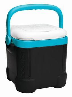 Igloo Ice Cube 12 Quart Cooler, Black/Tant Turquoise/White,