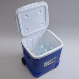 Igloo Ice Cube Roller Cooler 60-Quart Ocean Blue Polyethylen