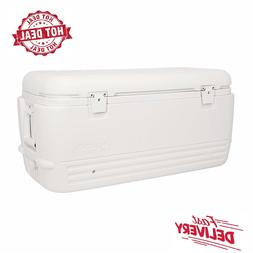 Igloo White Quick & Cool 100 Qt Chest Cooler Outdoor Camping