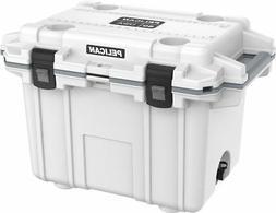Pelican Injection-Molded Elite Cooler; 50 Quart; White/Grey