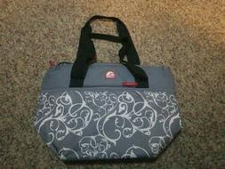 Igloo Insulated Clutch cooler Lunch Bag gray Zippered Canvas
