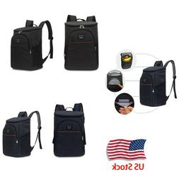 Insulated Cooler Backpack Double Deck Light Lunch Backpack O