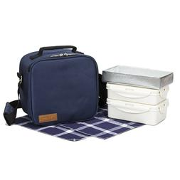 Insulated Cooler Lunch Box Bag Tote with Container for Work