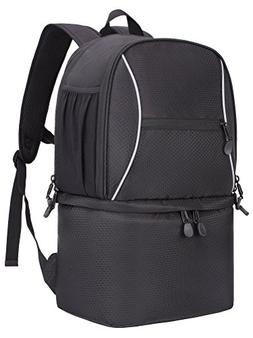 MIER Large Insulated Lunch Backpack with Cooler Compartment