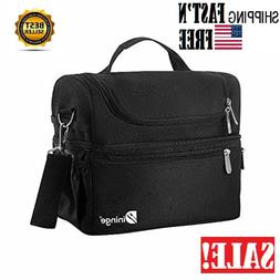 insulated lunch bag black for men large