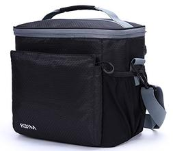 MIER Insulated Lunch Bag Men and Women Soft Cooler Lunch Box