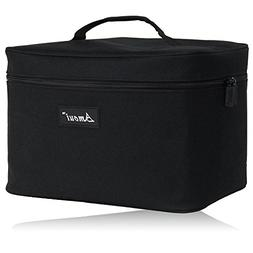 Amoui Large Insulated Lunch Bag for Men Adult 12L Black Plus