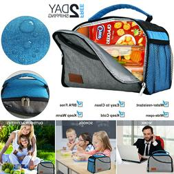 Insulated Lunch Box Travel Tote Bag Men Women Adult Hot Cold