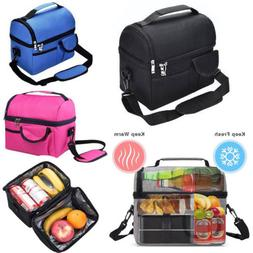 8L Insulated Lunch Box Tote Men Women Travel Hot Cold Food C