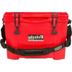 GRIZZLY COOLERS IRP9100R  GRIZZLY G15 RED/RED 15 QUART COOLE