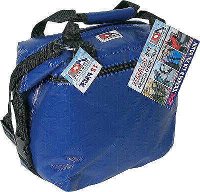 36 pack vinyl series cooler royal blue