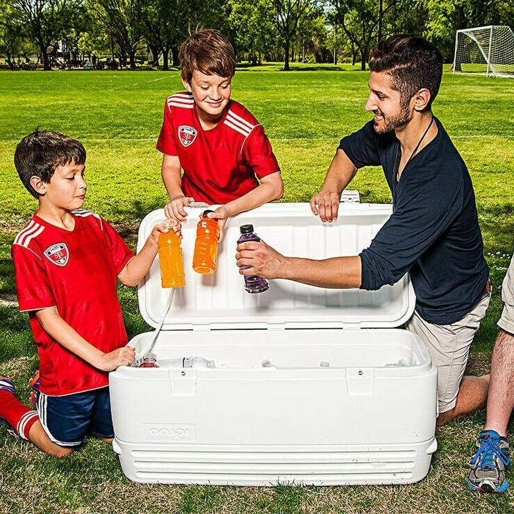 120 qt polar cooler ice cold drinks