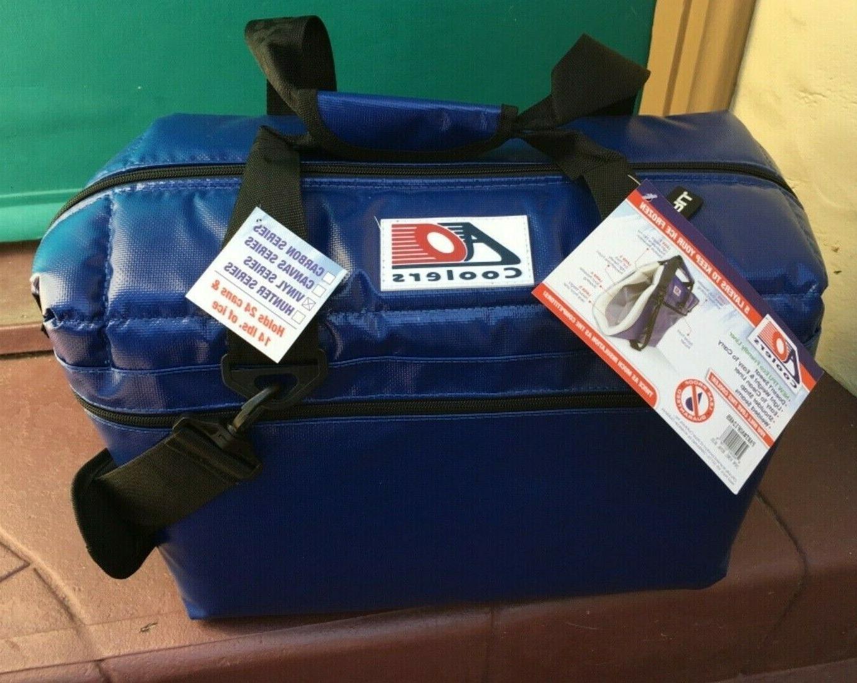 24 pack vinyl series cooler blue aofi24rb