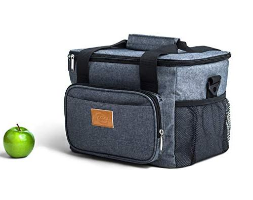 24can insulated reusable lunch bag