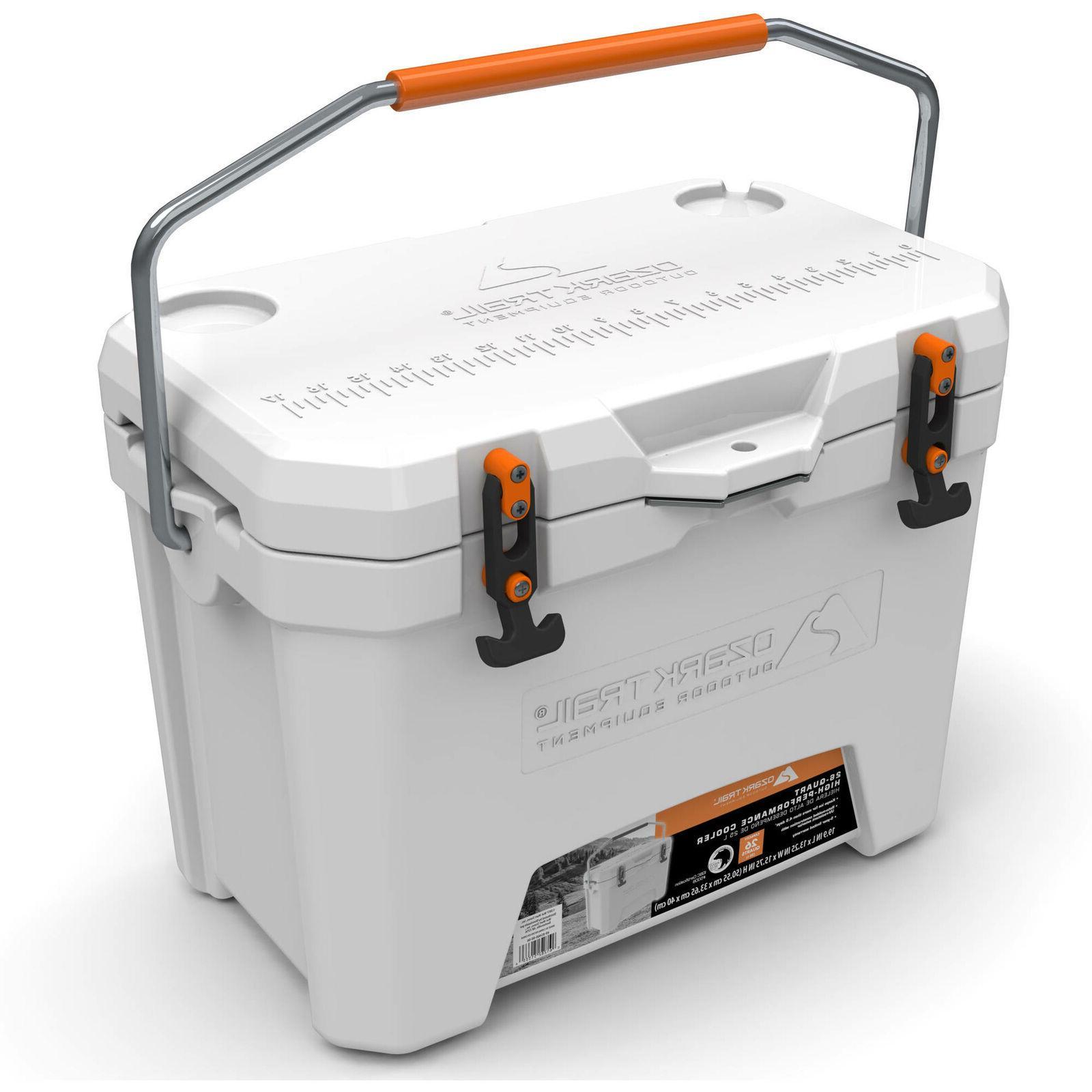 26 quart high performance cooler white free
