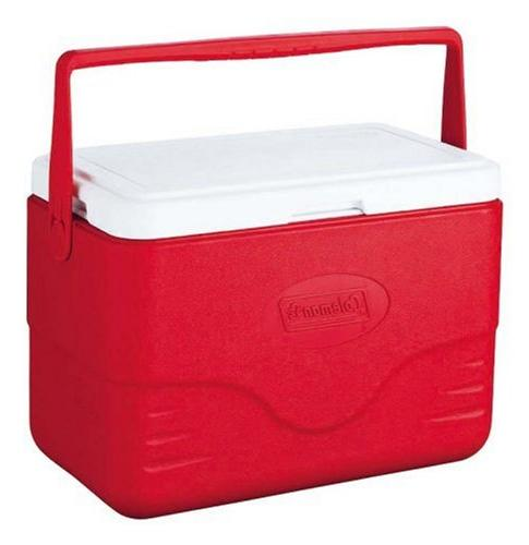 Coleman Cooler With Bail Red
