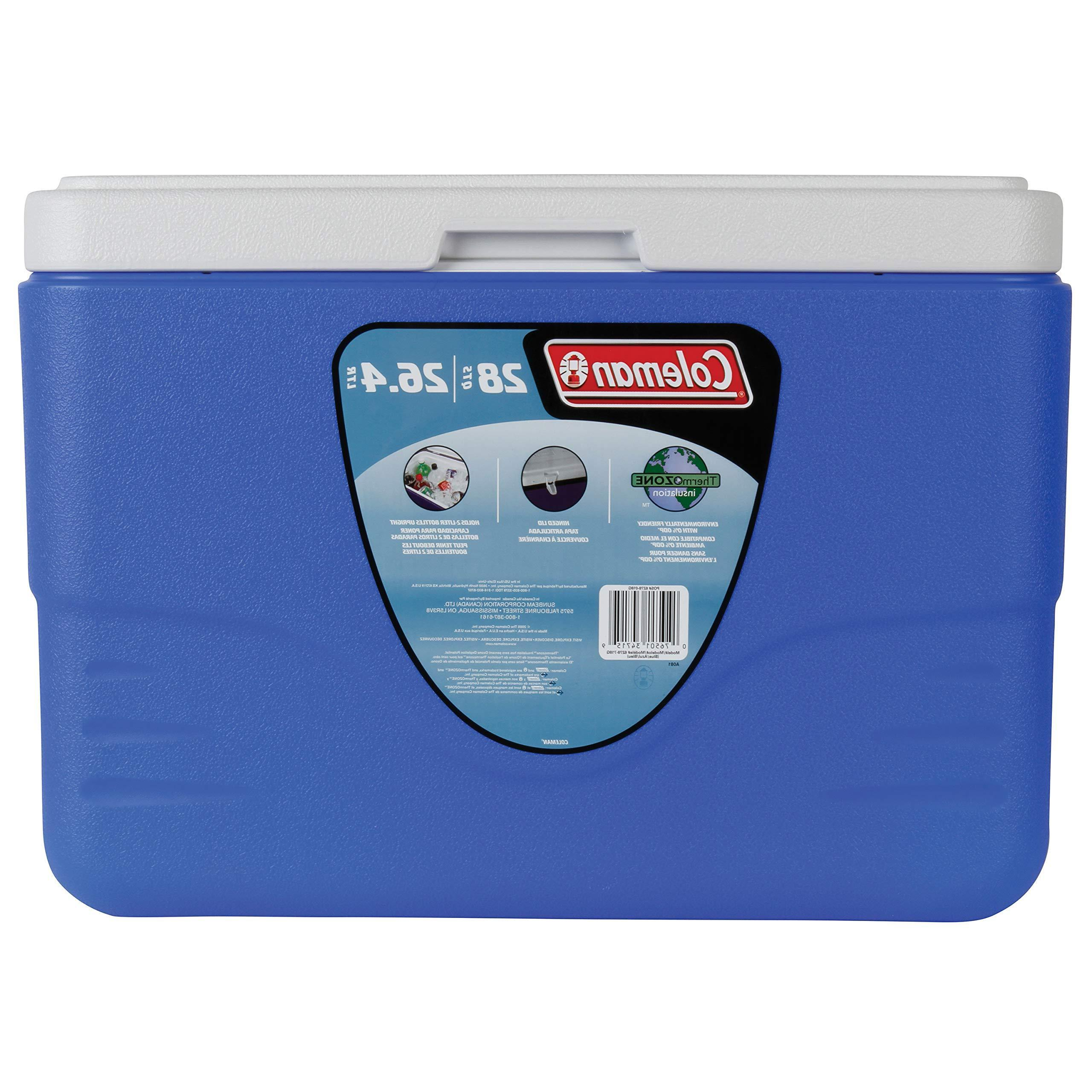 Coleman 28-Quart Cooler With Bail Blue