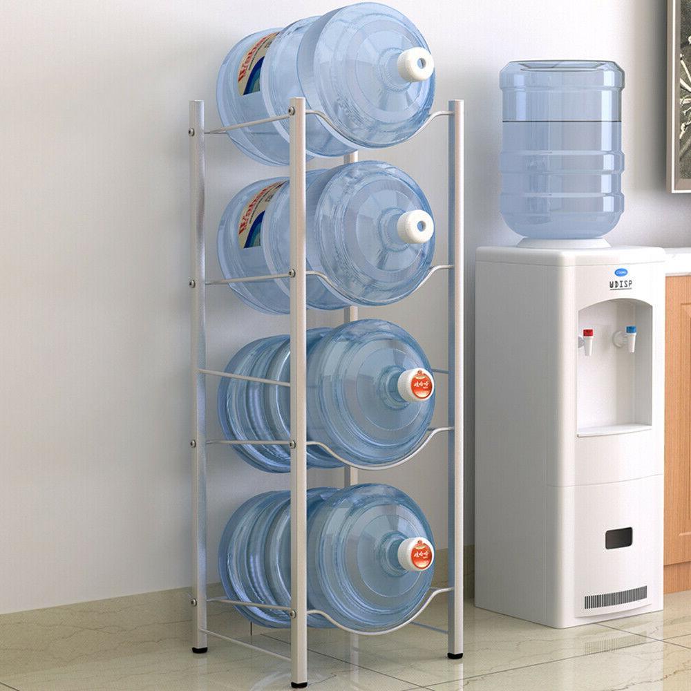 4-Tier Water Rack Stainless Steel Heavy Duty Water Cooler Ju