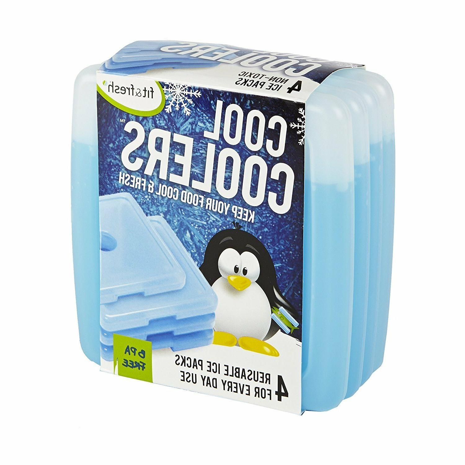 4-Pack Ice for Boxes Bags Coolers
