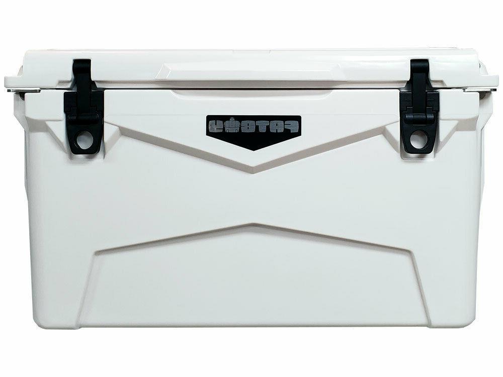 45 qt quart rotomolded cooler white