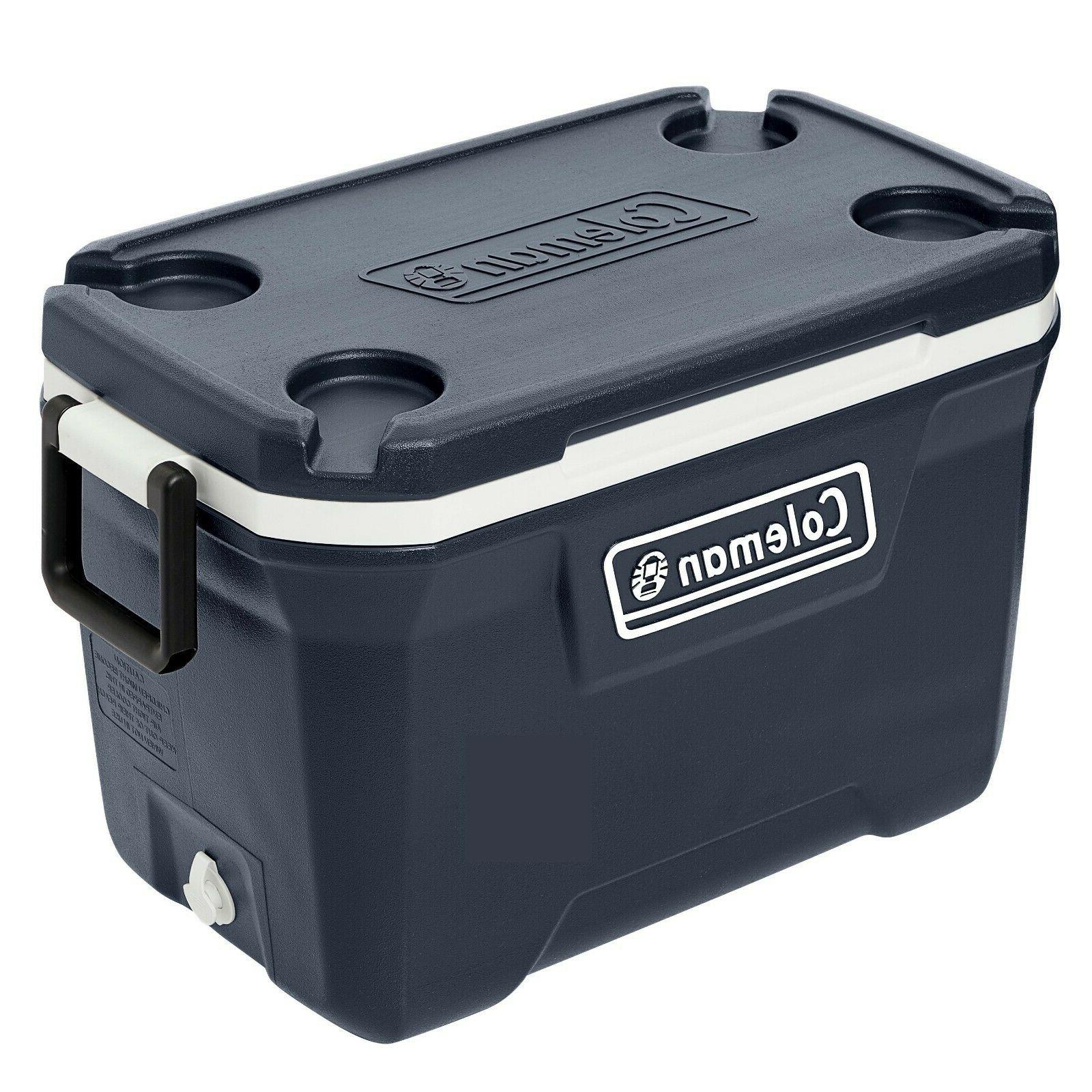 Coleman 52-Quart Hard Chest Cooler, Blue Nights