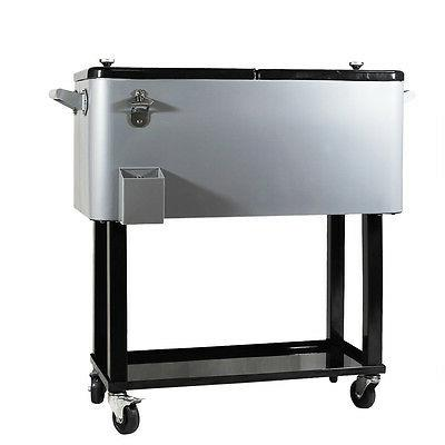 New Clevr Party Portable Rolling Ice Chest