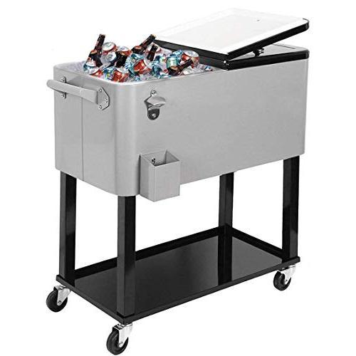 80quart party portable rolling cooler