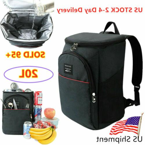 Cooler Bag Travel Ice Picnic Lunch Camping Cold Drink Insula