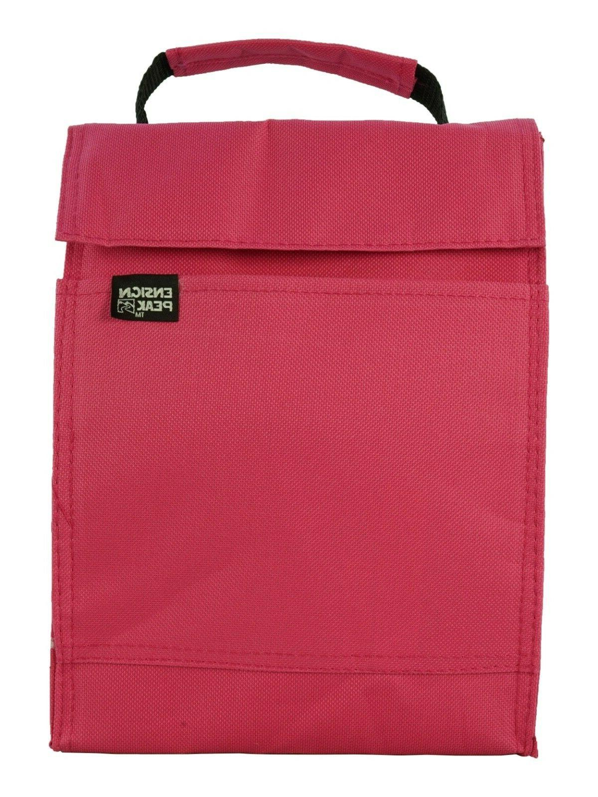 basic insulated lunch sack bag tote reusable