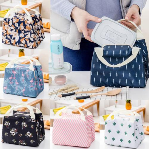 For Women Kids Insulated Box Tote Bag Cooler Lunch