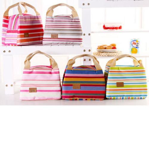 For Women Kids Men Insulated Canvas Bag Cooler Lunch