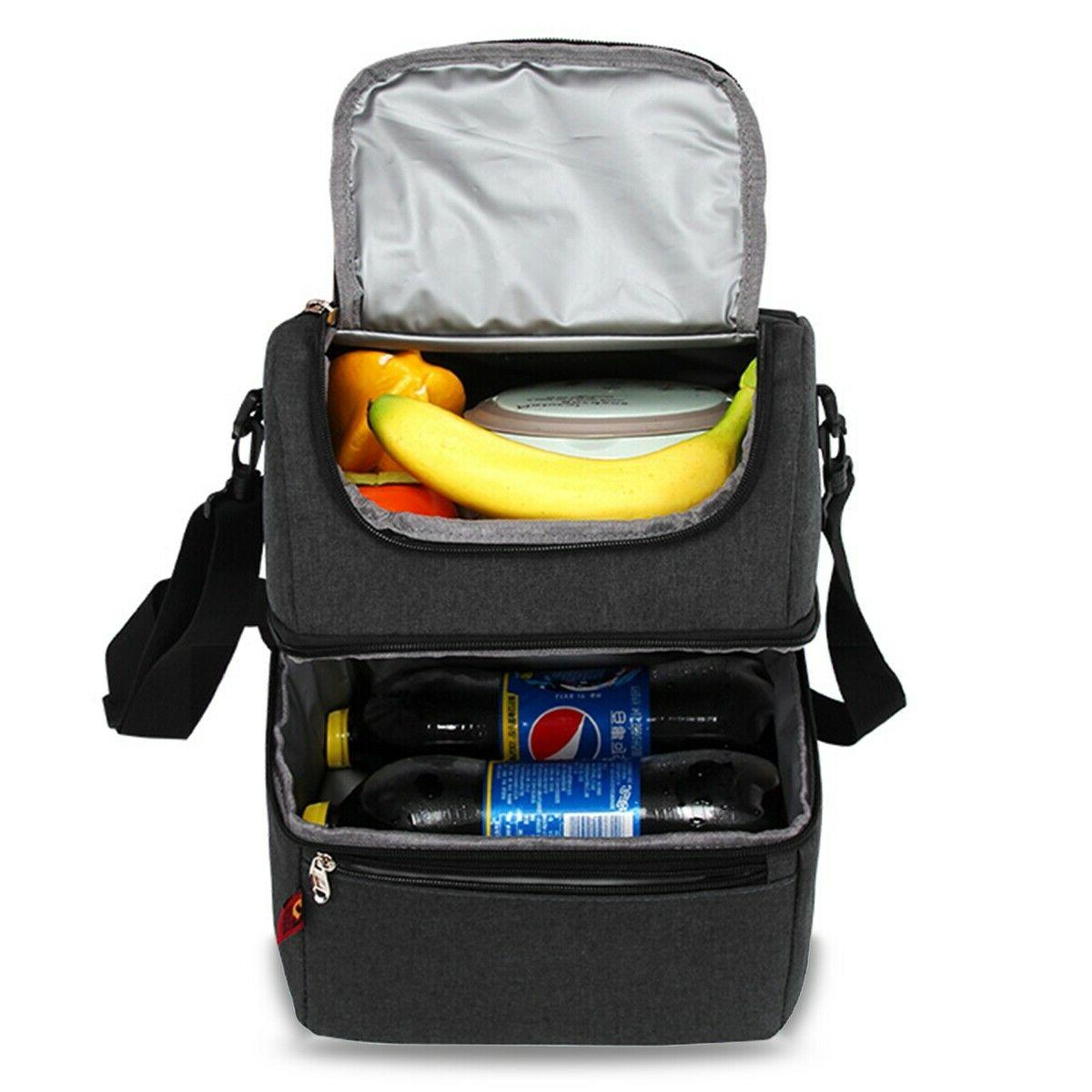 Adult Lunch Box Insulated Lunch Bag Large Cooler Tote Bag fo