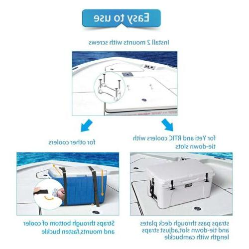 Boat Down Strap Kit for YETI or RTIC to Prevent Slipping