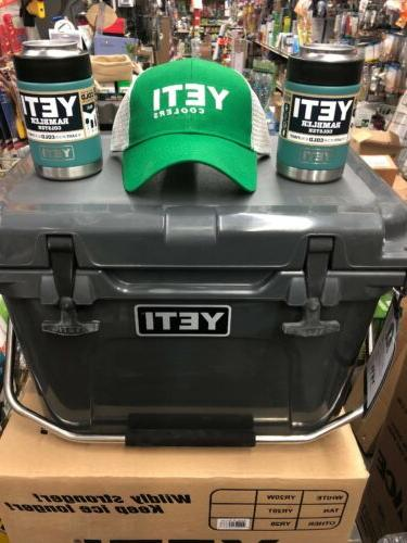 BRAND NEW 20 Cooler Charcoal Chest 2 colsters Hat