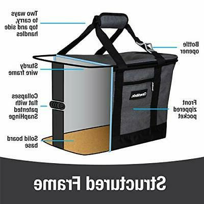 CleverMade Collapsible Bag: Insulated Leakproof 50