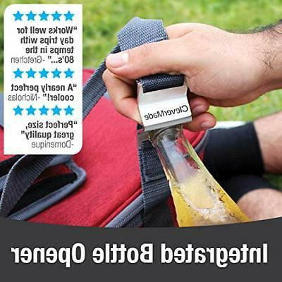 CleverMade Cooler Bag: Insulated 50 Can Soft