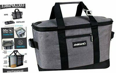 clevermade collapsible cooler bag insulated leakproof 50