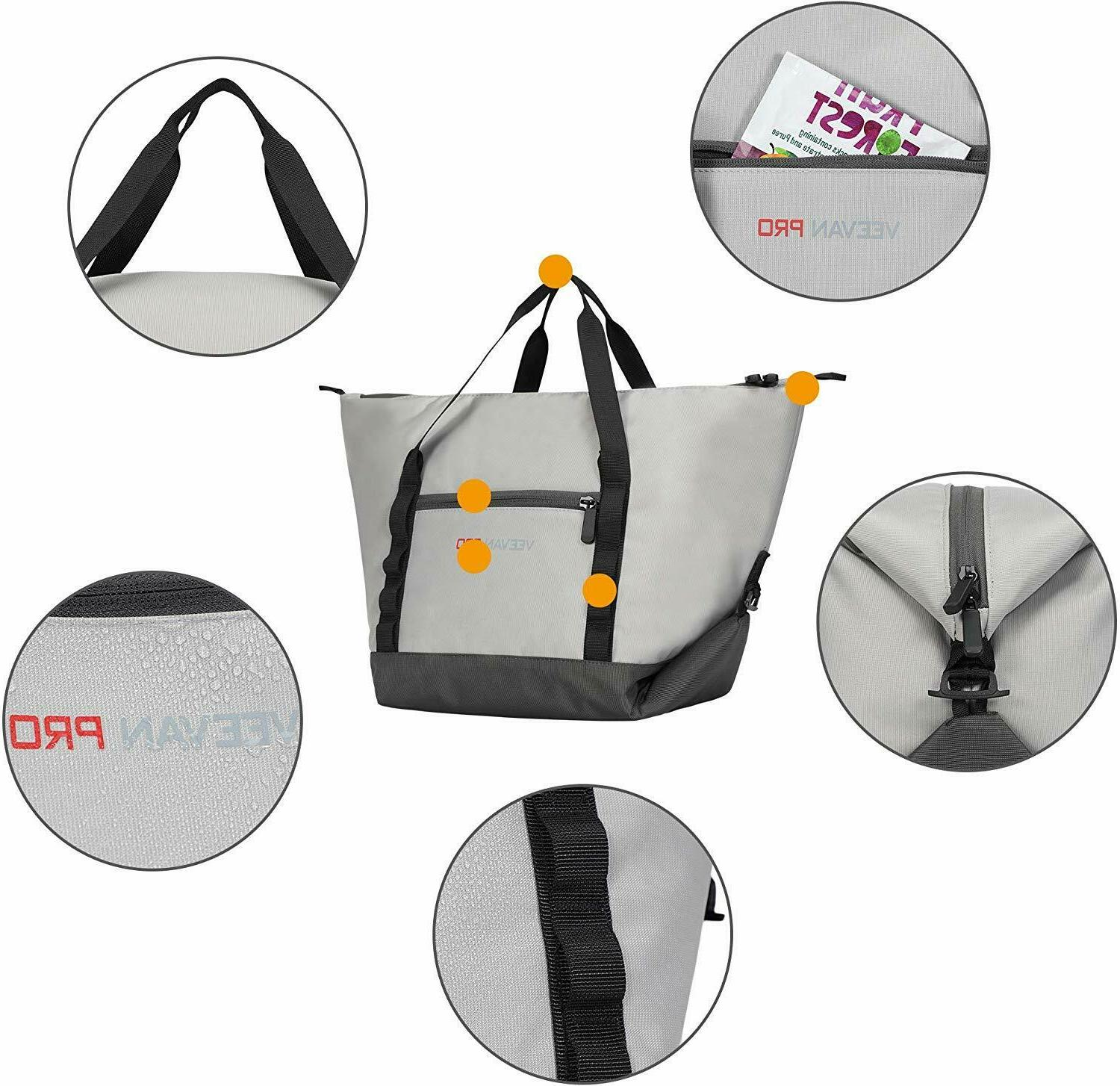 Veevanpro Convertible Cooler Insulated Tote Picnic