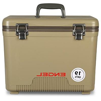 cooler dry box 19 qt tan