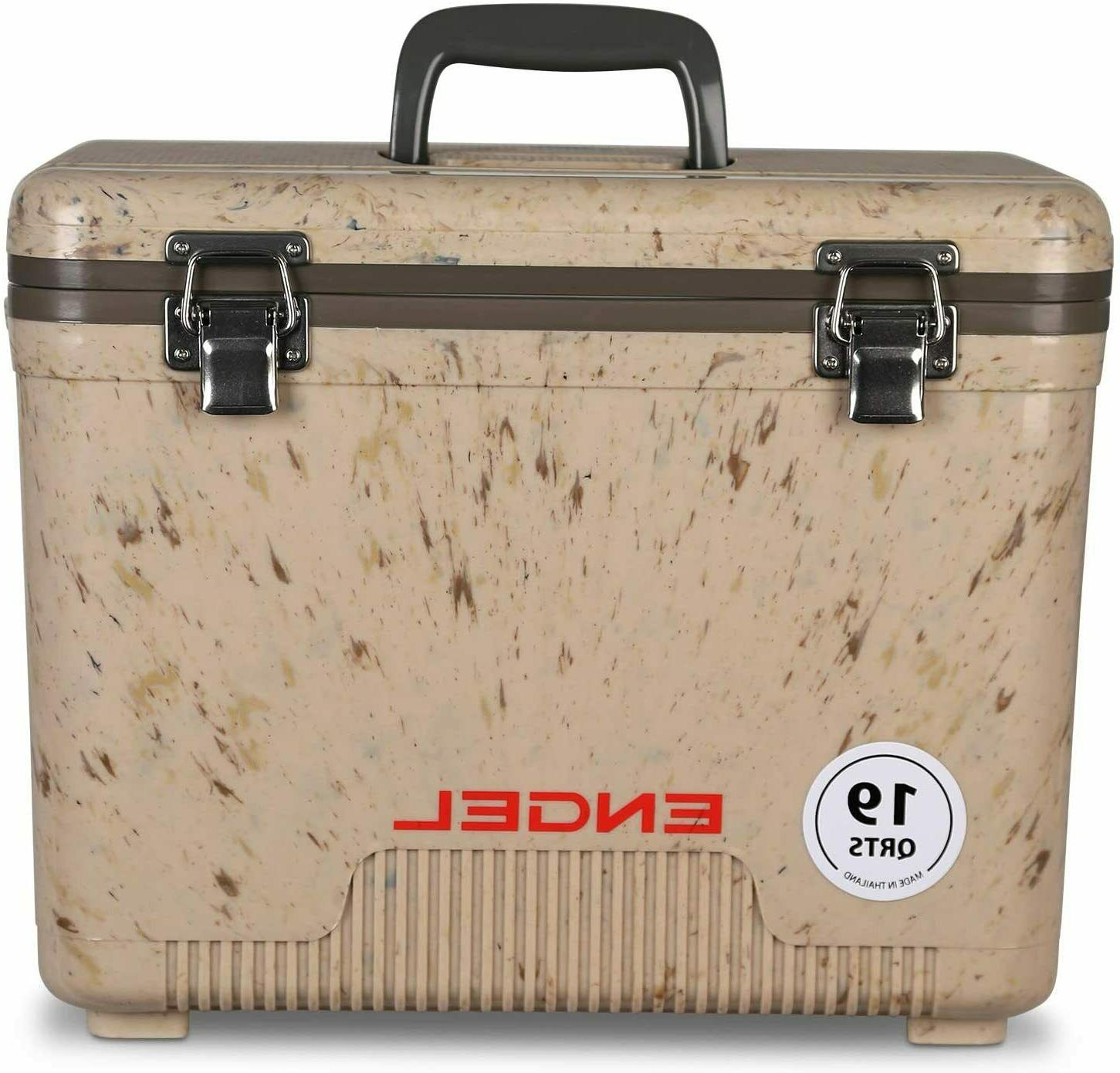 Cooler/ Dry Box 19 Qt White Camouflage by ENGEL with Double