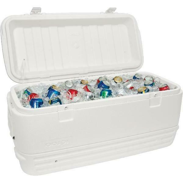 cooler large 120 qt polar white insulated