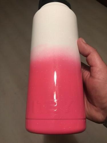 cooler rambler bottle 36oz powder coated neon