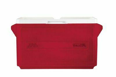 Cooler Stacker Camping Coolers Quality 33-Quart Party Red