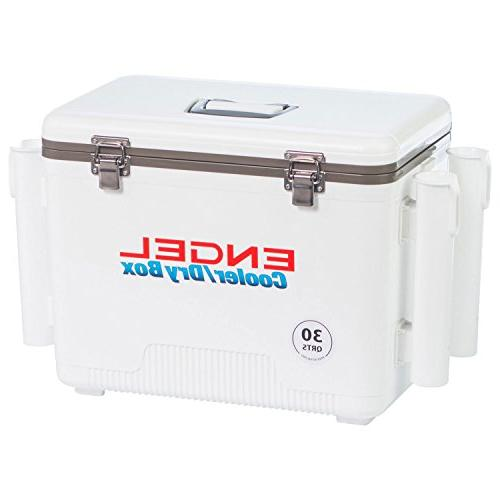 Engel Cooler/Dry with 4 Holders 30 Qt - White