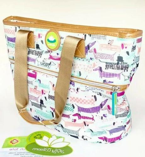 dachshund dogs insulated lunch tote bag cooler