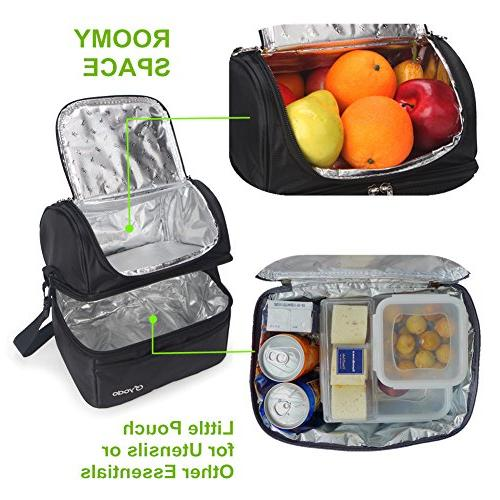 Yodo Deluxe Bag Double Cooler Tote for Women and Idea Picnics, Road Everyday or