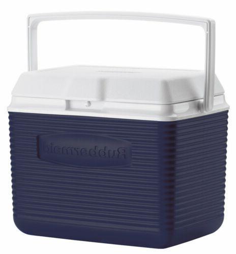 Rubbermaid FG2A1104MODBL 10 Quart Modern Blue Personal Coole
