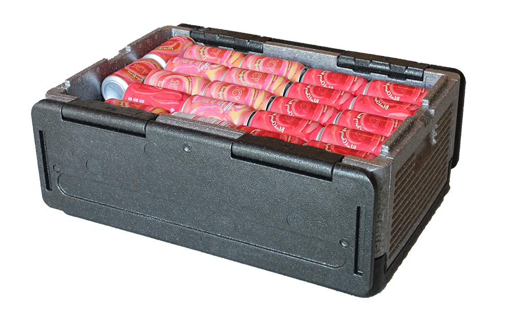 flip box foldable iceless cooler insulation box