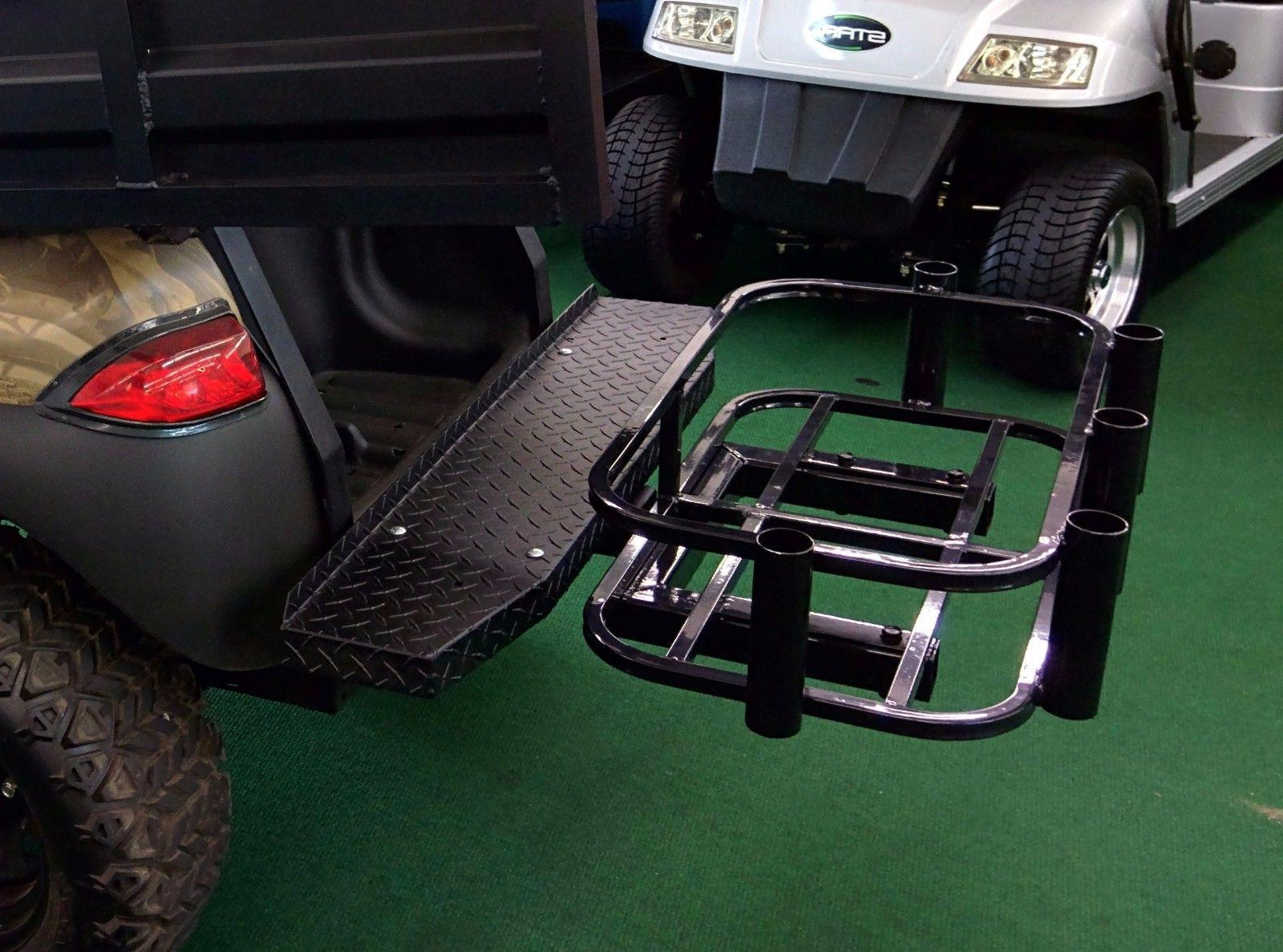 golf cart cooler and rod holder hitch