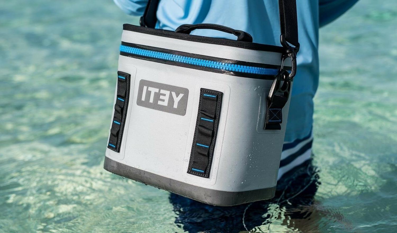 YETI Hopper Portable Cooler, Fog Gray Ice Water